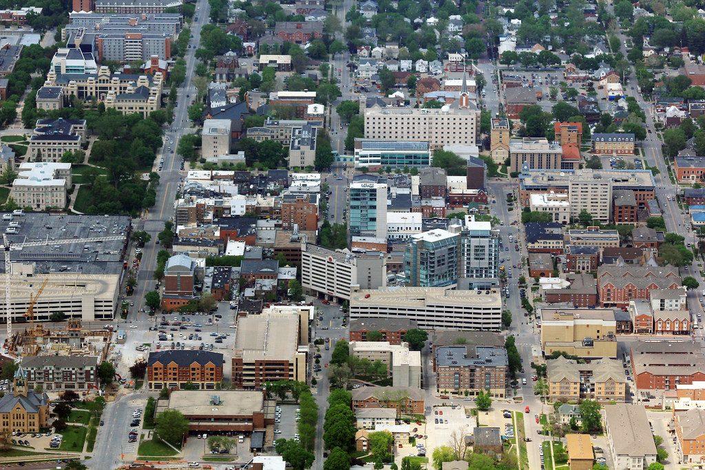 """Iowa City Aerial 2016"" is licensed under CC by 2.0"