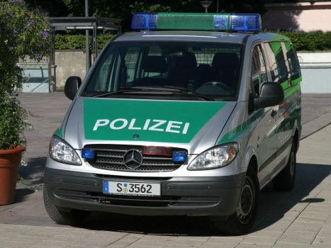 """German police Mercedes-Benz Vito Ludwigsburg"" by crazyemt is licensed under CC BY-NC-ND 2.0"