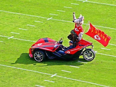 """Mascot - Kansas City Chiefs v Jacksonville Jaguars - 2016 (Explored)"" by Dis da fi we is licensed under CC BY-NC-SA 2.0"
