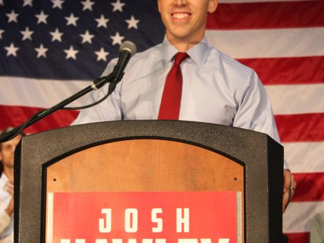 """File:Josh Hawley Primary Night.jpg"" by Natureofthought is licensed under CC BY-SA 4.0"